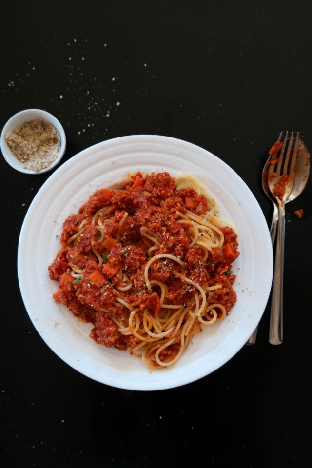 Spaghetti Bolognese Rezept vegan