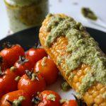 Erbsen-Minz Pesto Mais Rezept Vegan
