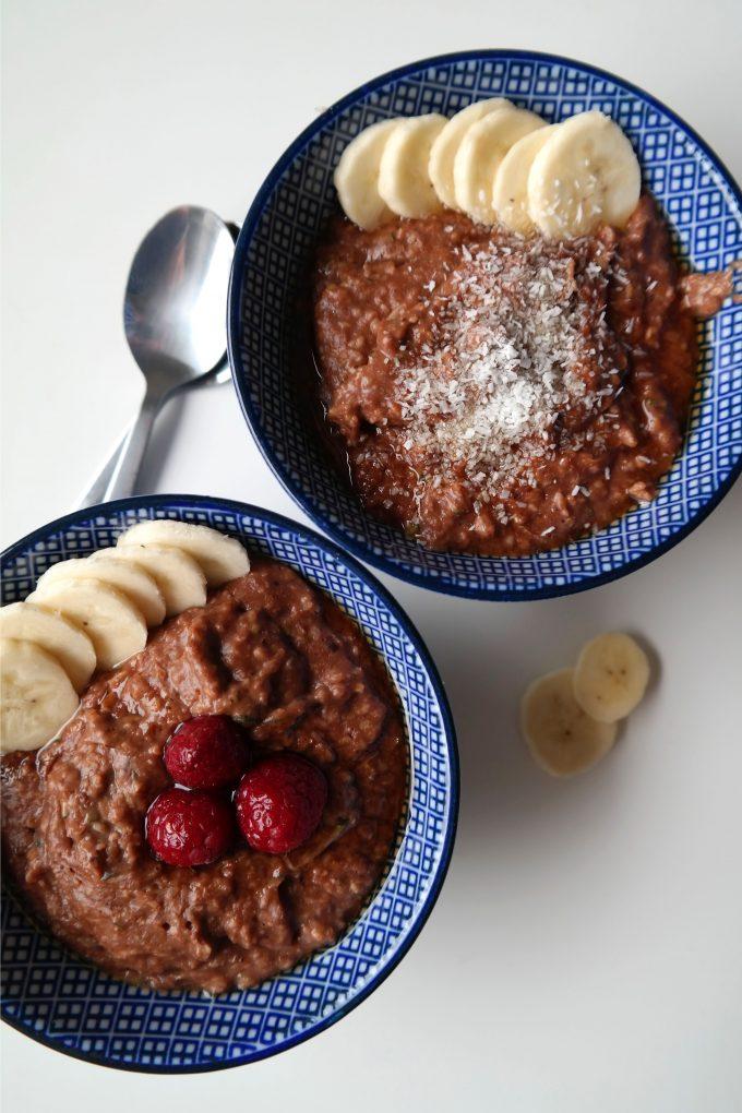 Schoko-Oatmeal mit Zucchini Rezept Vegan
