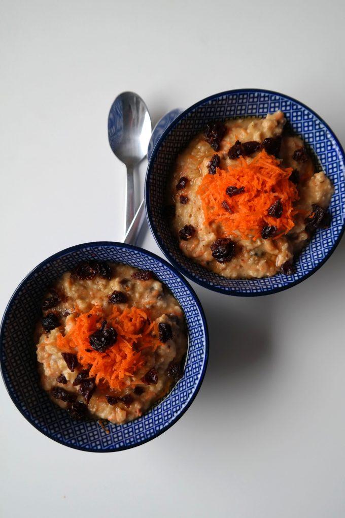 Carrot Cake Porridge Haferbrei Karottenkuchen Rezept Vegan