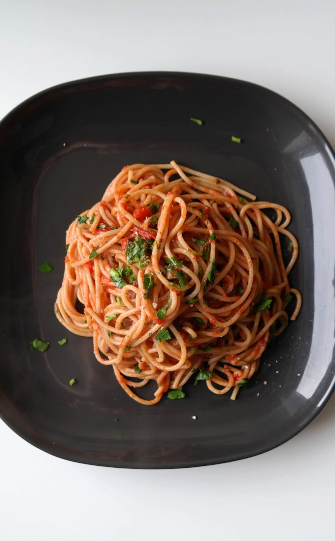 Spaghetti alla puttanesca Rezept vegan