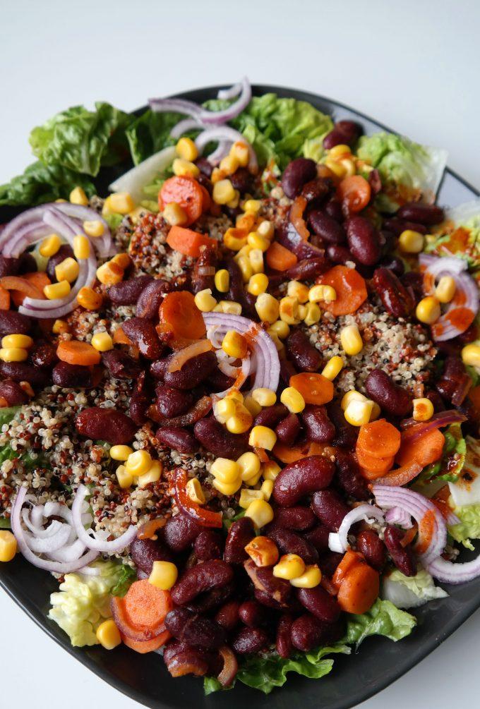 Quinoa-Bohnen Salat Rezept Vegan