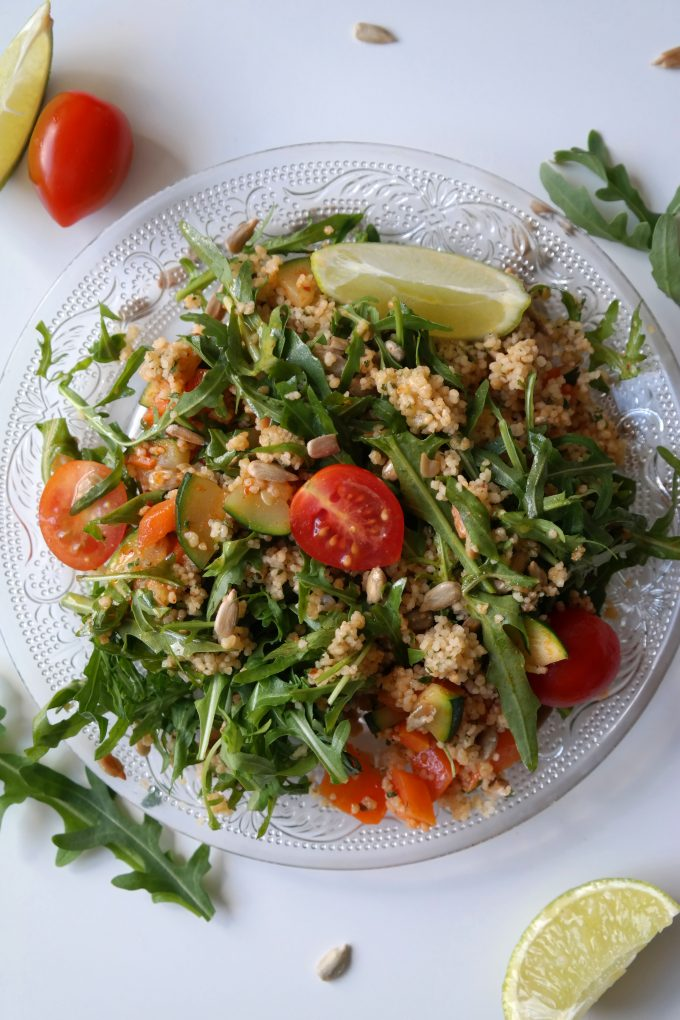 Sommerlicher Rucola-Couscous-Salat Rezept Vegan
