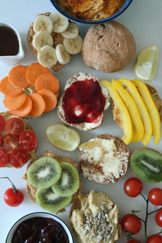 Dinkel-Vollkorn Brötchen Rezept Vegan