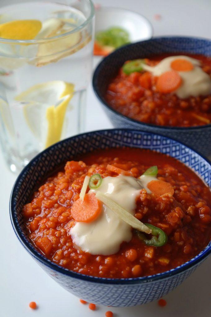 Linsen-Curry Eintopf Rezept Vegan