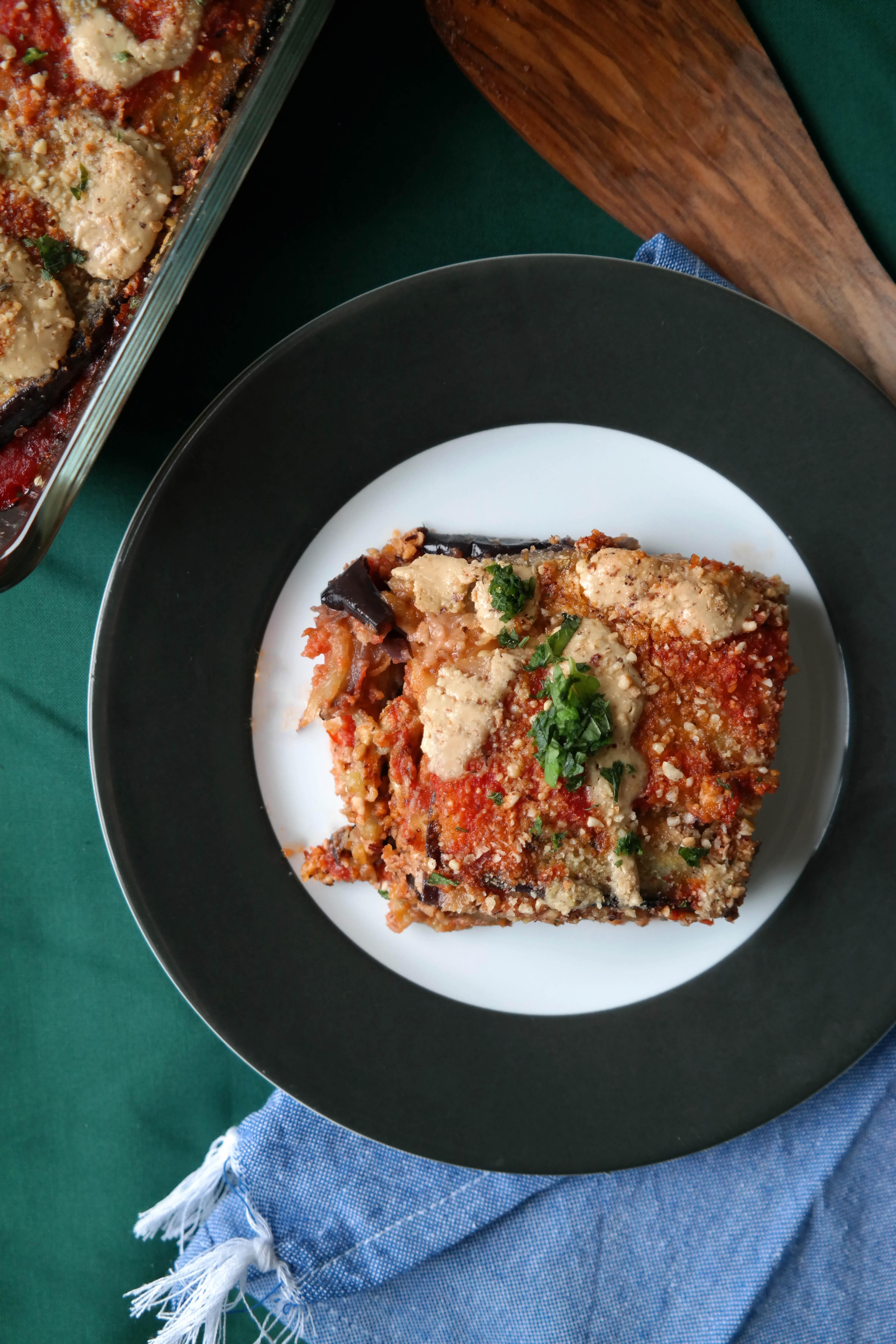 Vegane Parmigiana di Melanzane Rezept Auberginen-Auflauf