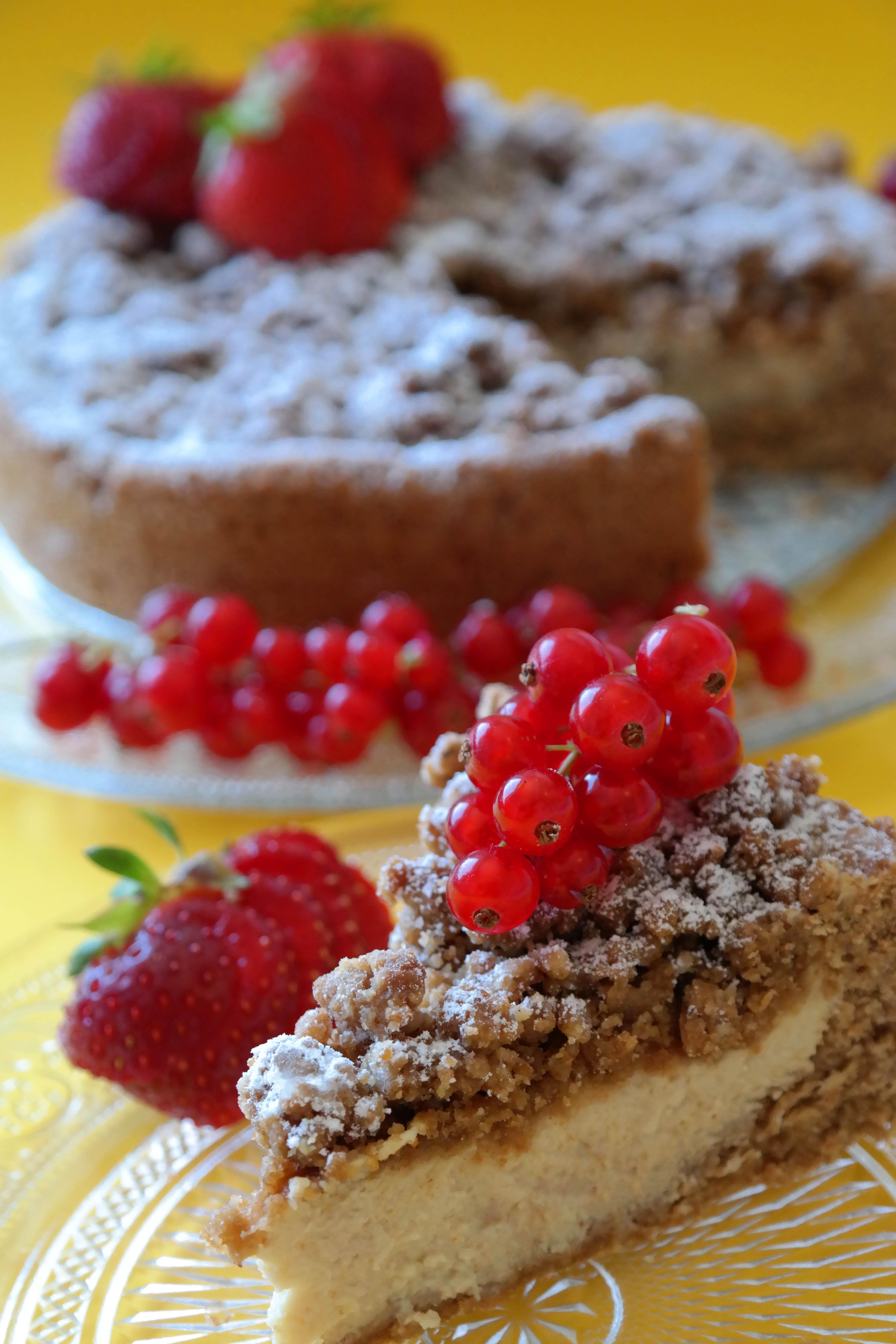 Streusel-Quarkkuchen Rezept Vegan