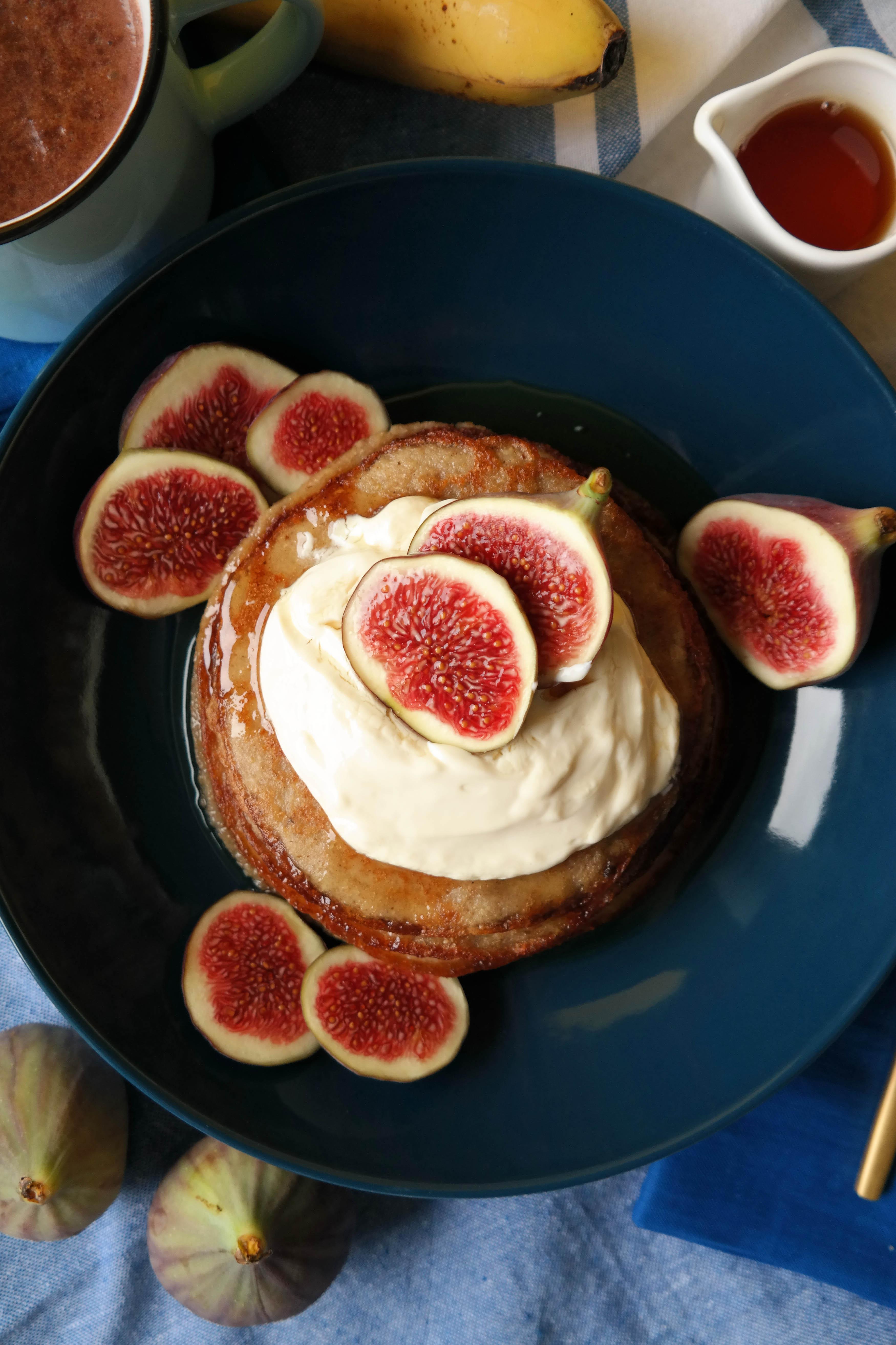 Vegane Mini Hafer-Pfannkuchen Rezept