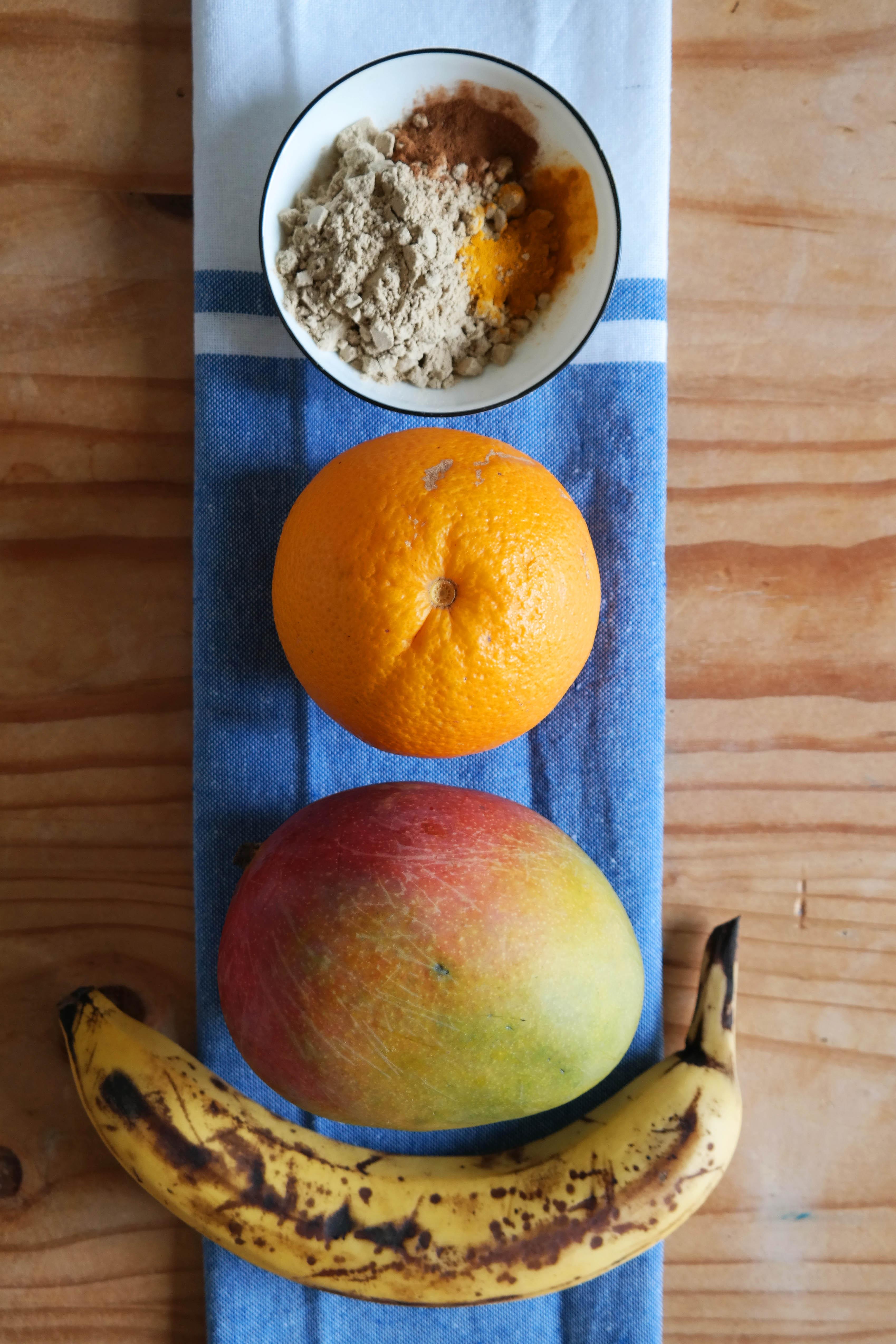 Rezept Mango-Orangen Smoothie mit Zimt & Kurkuma Vegan