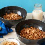 Salty Erdnuss Granola Müsli Rezept Vegan