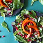 Festtagssalat mit Kürbis und Granatapfel Rezept Vegan