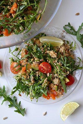 RUCOLA COUSCOUS SALAT Rezept vegan